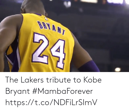 Kobe: The Lakers tribute to Kobe Bryant #MambaForever   https://t.co/NDFiLrSImV
