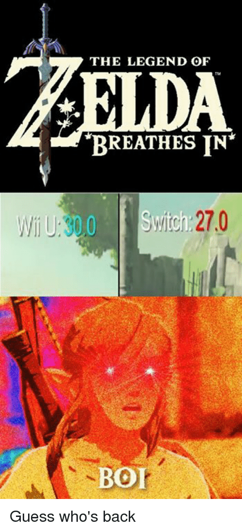 guess whos back: THE LEGEND OF  BREATHES IN  Switch 27.0  BO Guess who's back