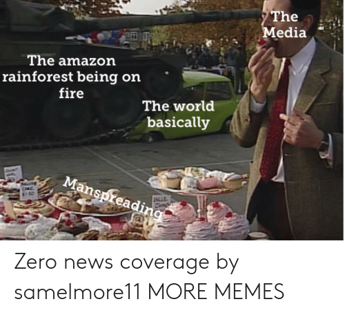 Amazon, Dank, and Fire: The  Media  The amazon  rainforest being on  fire  The world  basically  Manspreading Zero news coverage by samelmore11 MORE MEMES