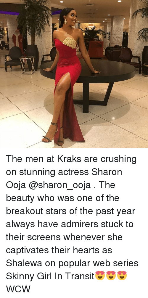 WCW: The men at Kraks are crushing on stunning actress Sharon Ooja @sharon_ooja . The beauty who was one of the breakout stars of the past year always have admirers stuck to their screens whenever she captivates their hearts as Shalewa on popular web series Skinny Girl In Transit😍😍😍 WCW