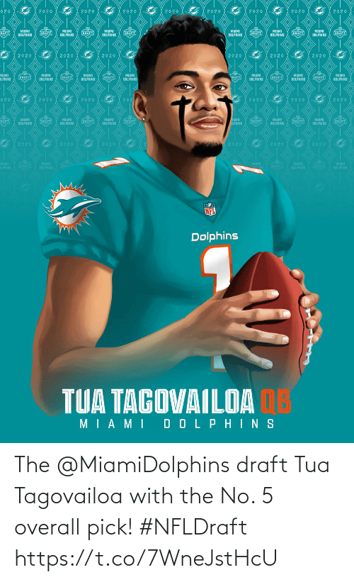 draft: The @MiamiDolphins draft Tua Tagovailoa with the No. 5 overall pick! #NFLDraft https://t.co/7WneJstHcU