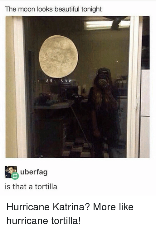 hurricane katrina more like hurricane tortilla