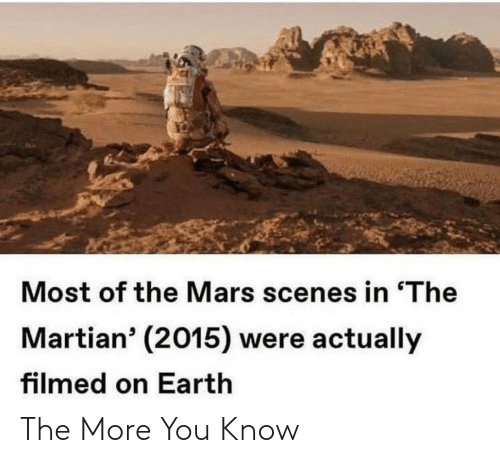the more you know: The More You Know