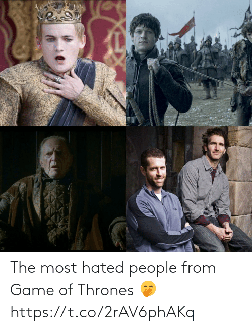 Of Thrones: The most hated people from Game of Thrones 🤭 https://t.co/2rAV6phAKq