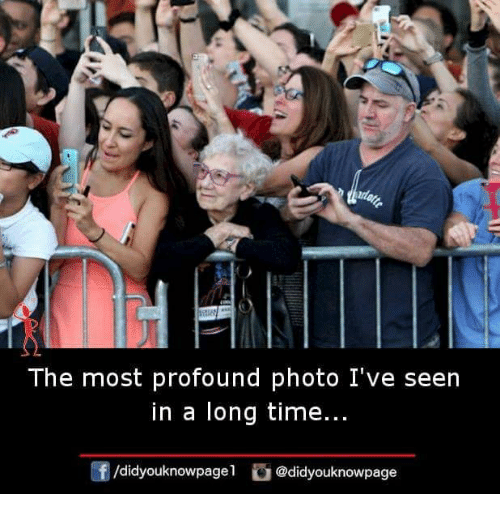 Memes, Time, and 🤖: The most profound photo I've seen  in a long time...  f/didyouknowpagel @didyouknowpage