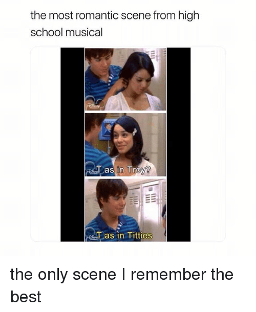 High School Musical, School, and Titties: the most romantic scene from high  school musical  as in Titties the only scene I remember the best