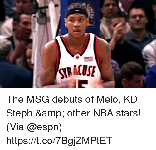 melo: The MSG debuts of Melo, KD, Steph & other NBA stars!   (Via @espn)  https://t.co/7BgjZMPtET