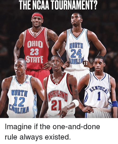 ncaa tournament: THE NCAA TOURNAMENT?  OHIO  NORTH  STATE Imagine if the one-and-done rule always existed.