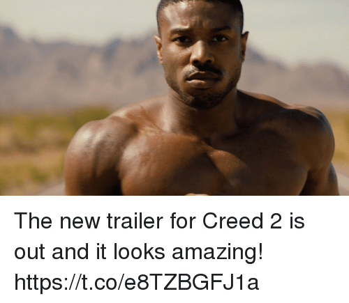 Creed, Amazing, and New: The new trailer for Creed 2 is out and it looks amazing! https://t.co/e8TZBGFJ1a