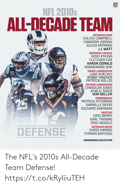 defense: The NFL's 2010s All-Decade Team Defense! https://t.co/kRyIiiuTEH