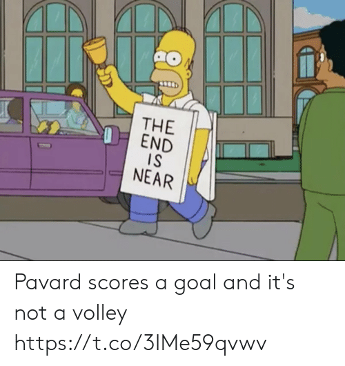 Memes, Goal, and 🤖: THE  OEND  IS  NEAR Pavard scores a goal and it's not a volley https://t.co/3IMe59qvwv