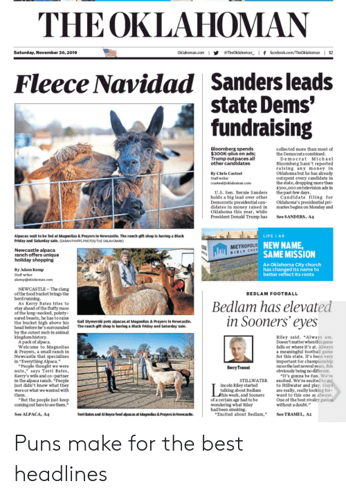 """Bernie Sanders, Black Friday, and Church: THE OKLAHOMAN  Theoklahoman f facebook.com/TheOkahoman 