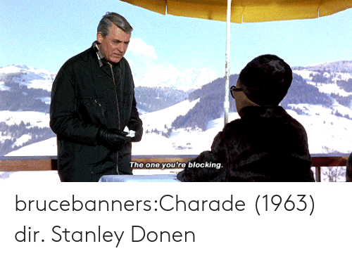 Target, Tumblr, and Blog: The one you're blocking brucebanners:Charade (1963) dir. Stanley Donen