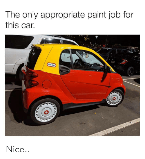 Paint, Nice, and Job: The only appropriate paint job for  this car.  little tikes Nice..