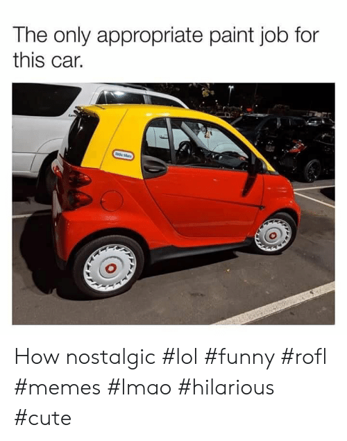 tes: The only appropriate paint job for  this car.  te tes How nostalgic #lol #funny #rofl #memes #lmao #hilarious #cute