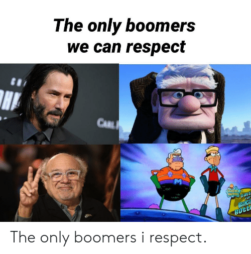 carl: The only boomers  we can respect  CARL  CENPENENOS  FOr  Batt  BiKi  BOTE The only boomers i respect.