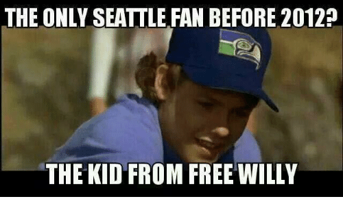 Nfl, Free, and Seattle: THE ONLY SEATTLE FAN BEFORE 2012  THE KID FROM FREE WILLY