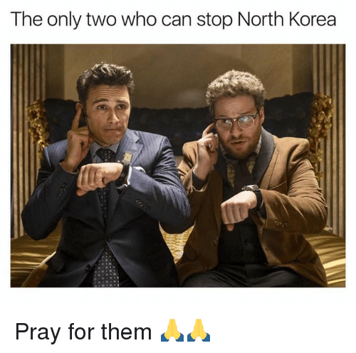Memes, North Korea, and 🤖: The only two who can stop North Korea Pray for them 🙏🙏