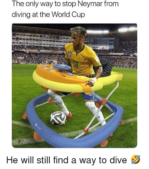 Neymar, Soccer, and Sports: The only way to stop Neymar from  diving at the World Cup He will still find a way to dive 🤣