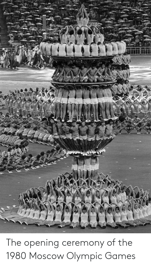 olympic: The opening ceremony of the 1980 Moscow Olympic Games