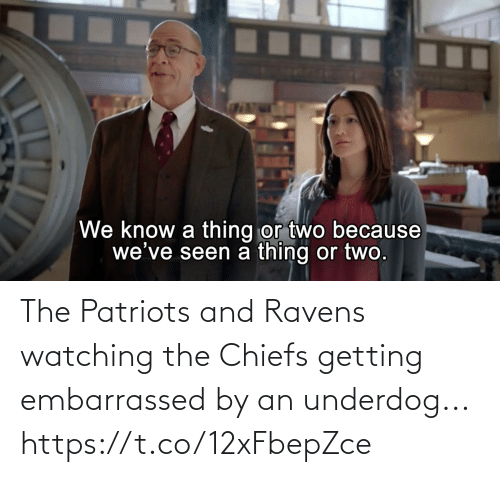 Patriotic: The Patriots and Ravens watching the Chiefs getting embarrassed by an underdog... https://t.co/12xFbepZce