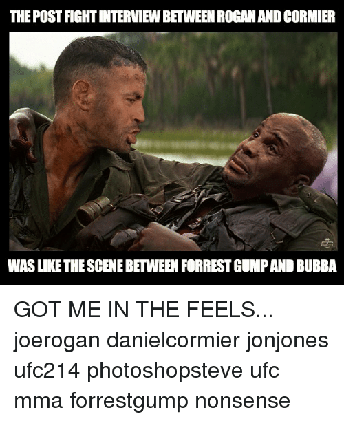 The Post Fight Interview Between Roganand Cormier Was Like The Scene