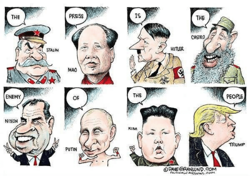 Enemy Of The People: THE  PRESS  IS  THE  CASTRO  STALIN  HITLER  MAO  ENEMY  OF  THE  PEOPLE  NIXON  KIM  TRUMP  PUTIN  曰DNEGRANLUND.COM