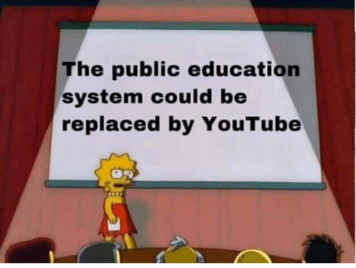 system: The public education  system could be  replaced by YouTube