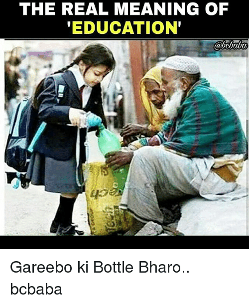 the true definition of being educated A human righteducation as a human right means:the right to education is  legally guaranteed for all without any  what is the content of the right to  education.