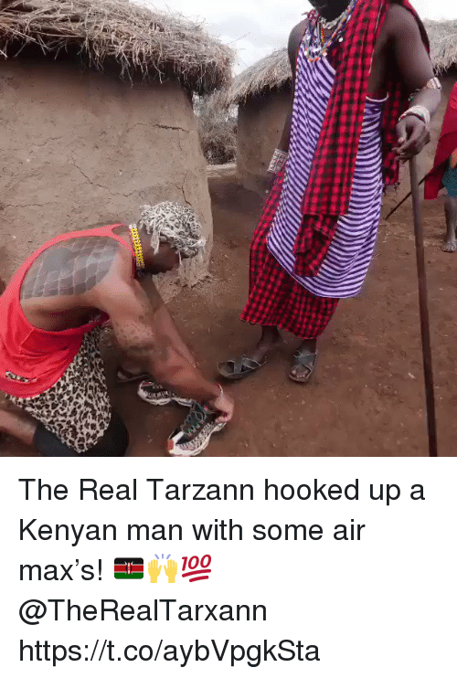 The Real, Air, and Air Max: The Real Tarzann hooked up a Kenyan man with some air max's! 🇰🇪🙌💯 @TheRealTarxann https://t.co/aybVpgkSta