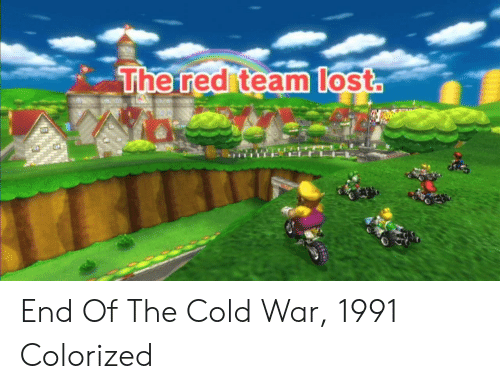 Cold War: The red teamlost End Of The Cold War, 1991 Colorized