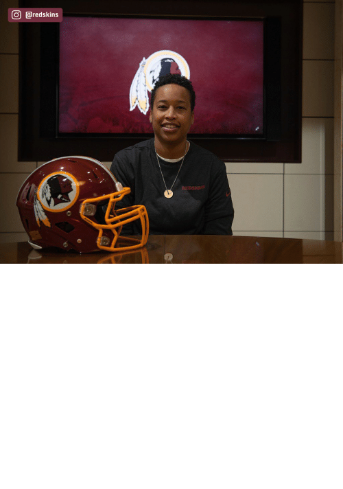 female: The Redskins have named Jennifer King as a full-year coaching intern. King is the first full season African American female coach in the NFL. (via @redskins) https://t.co/OuD411hqSr