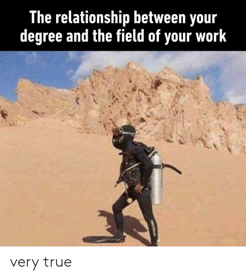 True, Work, and Degree: The relationship between your  degree and the field of your work very true
