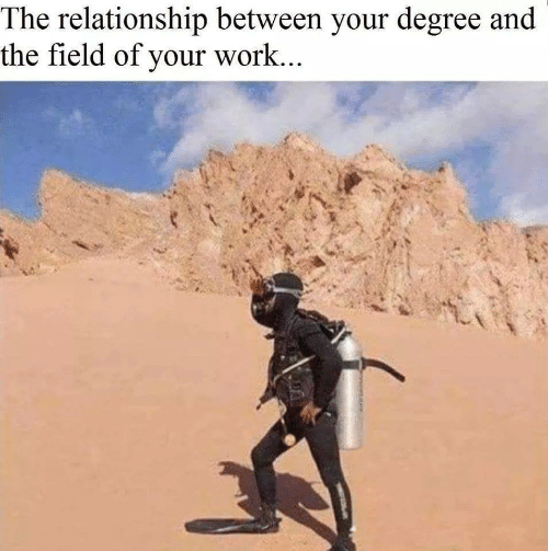 Work, Degree, and Relationship: The relationship between your degree and  the field of your work...