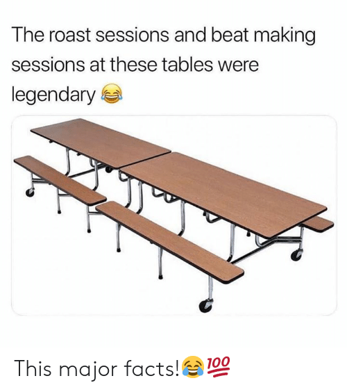 Sessions: The roast sessions and beat making  sessions at these tables were  legendary This major facts!😂💯