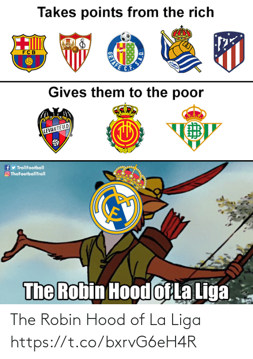 Memes, La Liga, and Hood: The Robin Hood of La Liga https://t.co/bxrvG6eH4R
