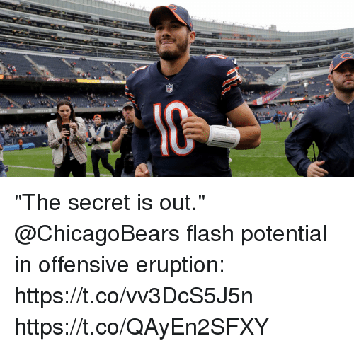 "Eruption: ""The secret is out.""  @ChicagoBears flash potential in offensive eruption: https://t.co/vv3DcS5J5n https://t.co/QAyEn2SFXY"