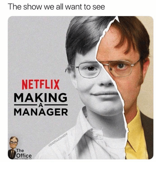 Netflix, The Office, and Office: The show we all want to see  NETFLIX  MAKING  MANAGER  The  Office