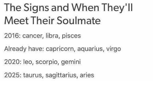 The Signs and When They'll Meet Their Soulmate 2016 Cancer