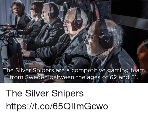 Competitive: The Silver Snipers are a competitive gaming teanm  om Swedem between the ages of 62 and 1 The Silver Snipers https://t.co/65QIImGcwo