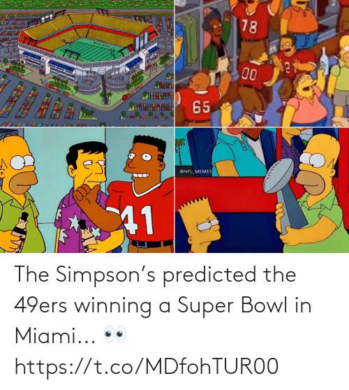winning: The Simpson's predicted the 49ers winning a Super Bowl in Miami... 👀 https://t.co/MDfohTUR00