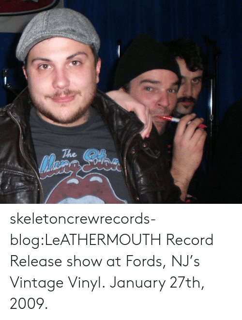 vinyl: The skeletoncrewrecords-blog:LeATHERMOUTH Record Release show at Fords, NJ's Vintage Vinyl. January 27th, 2009.