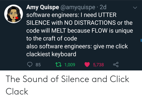 Click: The Sound of Silence and Click Clack