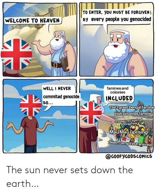 the sun: The sun never sets down the earth…