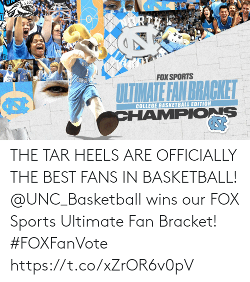 fan: THE TAR HEELS ARE OFFICIALLY THE BEST FANS IN BASKETBALL!  @UNC_Basketball wins our FOX Sports Ultimate Fan Bracket! #FOXFanVote https://t.co/xZrOR6v0pV