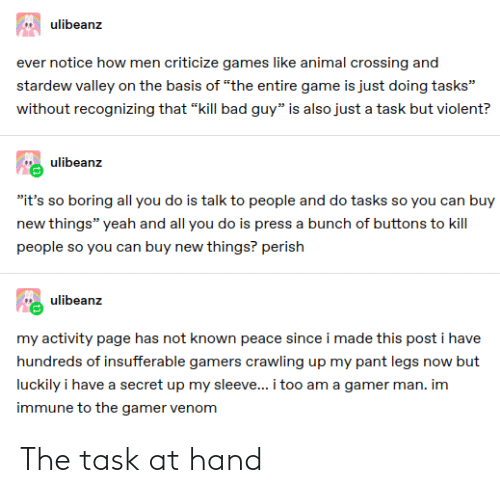 hand: The task at hand