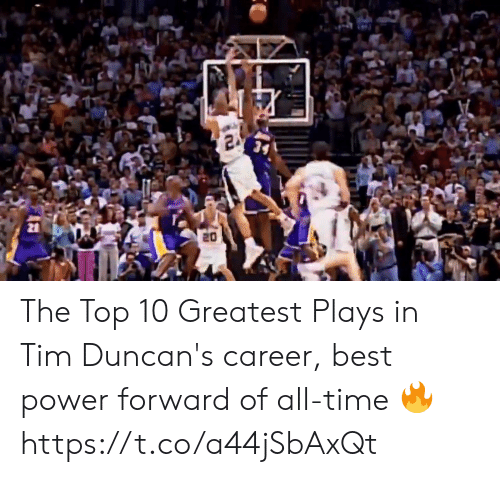 Memes, Best, and Power: The Top 10 Greatest Plays in Tim Duncan's career, best power forward of all-time 🔥 https://t.co/a44jSbAxQt