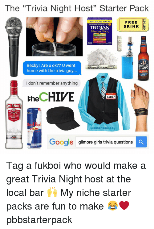 The Trivia Night Host Starter Pack 36ct VALUE PACK! FREE DRINK