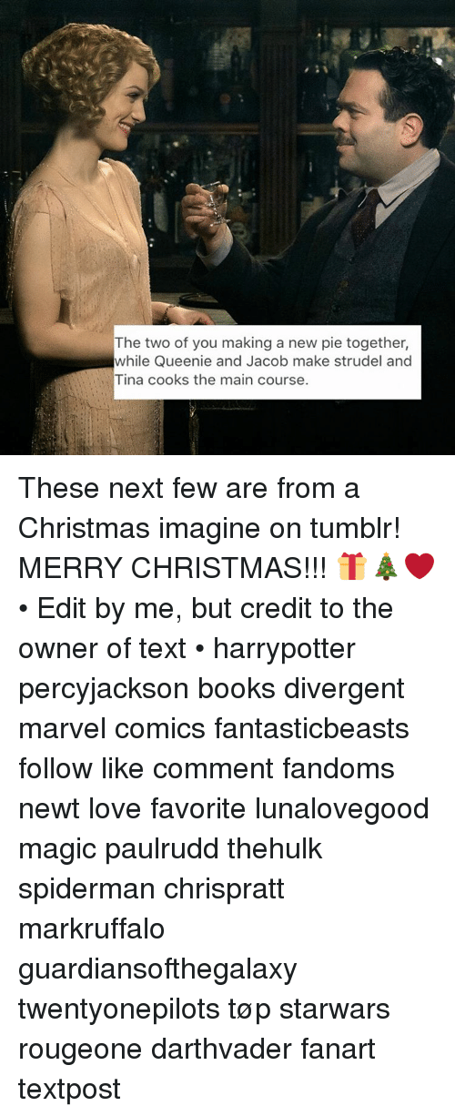 Marvel Comics, Memes, and Divergent: The two of you making a new pie
