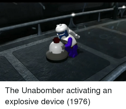 explosive: The Unabomber activating an explosive device (1976)
